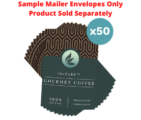 10xPURE™ Coffee Sample Mailers - 50 Count
